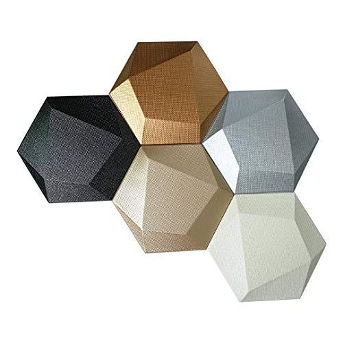 Mosaic Tile Art Panel - Art3dwallpanels Faux Leather Tiles 3D Wall Panels Hexagonal Mosaic Wall Tiles (20 Pack)