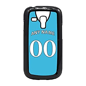 Case Fun Case Fun Personalised Manchester City Football Shirt, Any Name, Any Number Snap-on Hard Back Case Cover for Samsung GalaxyS3 Mini (I8190)