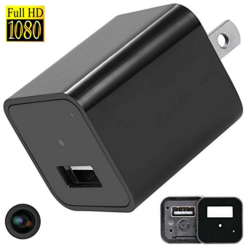 Hidden Cameras Charger Adapter, iMaxios 1080P HD USB Wall Charger Hidden Camera/Nanny Spy Camera Adapter with 32G Internal Memory – Update Version