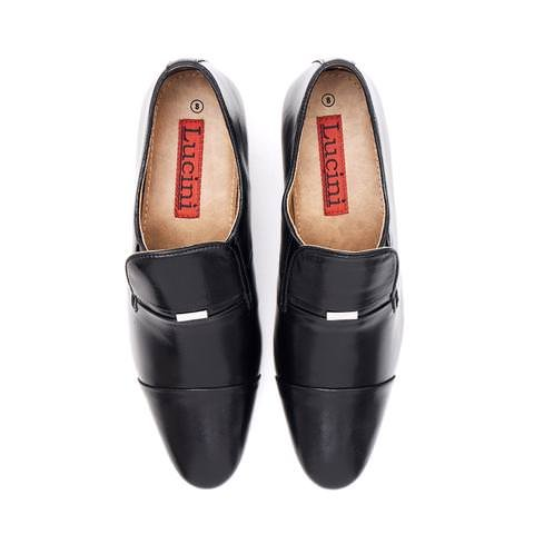 6823823b980f AARZ LONDON Mens Gents Formal Smart Office Work Evening Party Slip-On  Leather Cuban Heel Black Shoes Size UK 8  Amazon.co.uk  Shoes   Bags