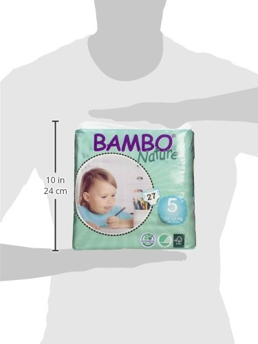 Large Product Image of Bambo Nature Baby Diapers Classic, Size 5 (26-49 lbs), 162 Count (6 Packs of 27)