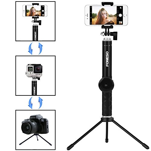 from usa selfie stick foneso extendable monopod with bluetooth remote and tripod stand for. Black Bedroom Furniture Sets. Home Design Ideas