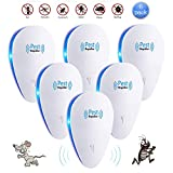 Ultrasonic Pest Repeller 6 Packs Electronic Pest Control Repellent Reject Plug in for Insect by, Mouse, Rats, Spiders, Fleas, Roaches, Bed Bugs, Mosquitoes, Eco-Friendly, Human & Pet Safe (6 Pack)