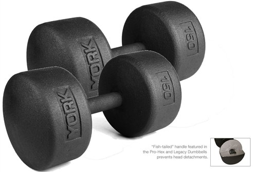 York-Barbell-150-lb-Legacy-Solid-Professional-Round-Dumbbells
