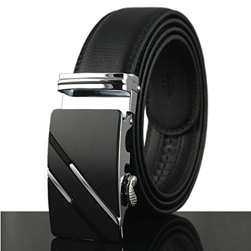 Up to waist 42 Mens Leather Belts Big and Tall Adjustable 120cm , Black 01