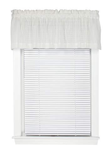 - Bay Breeze Semi Sheer Stripe Straight Valance Curtain 72