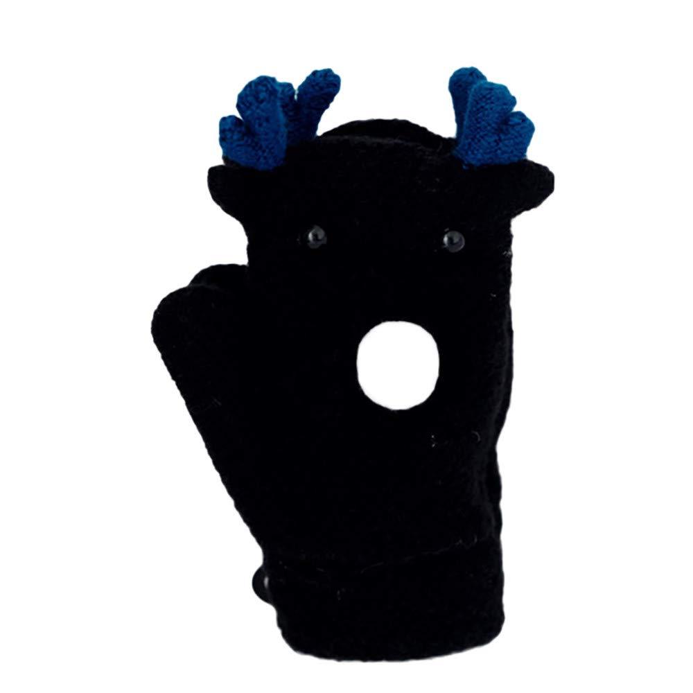 Gloves In A Bottle,Christmas Gloves Winter,Gloves Women Winter,Christmas Gloves,2-8 Children Christmas Hand Wrist Winter Neck Thicken Gloves,black,M