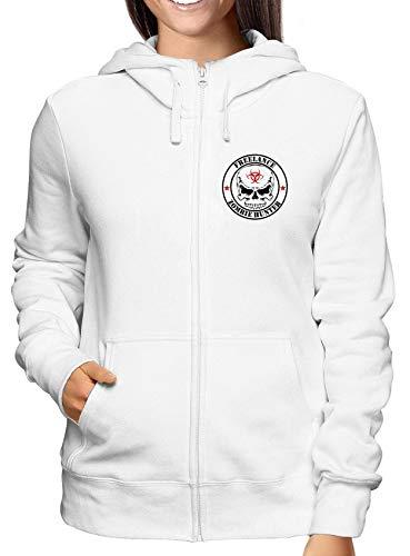Zip Damen Weiss Hoodie Sweatshirt Hunter Tzom0002 Freelance Zombie 7vpq6x
