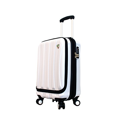Mia Toro Italy Tasca Fusion Hardside Spinner Carry-on, White
