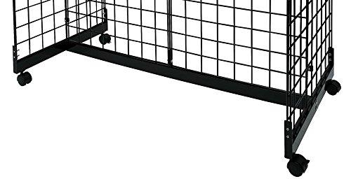 Black Grid Gondola Unit - Includes Base and Casters - Grid Unit 48''L x 66''H x 24''W by SSWBasics (Image #2)