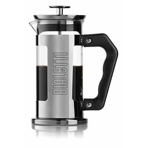 Bialetti 06700 3-Cup French Press Coffee Maker, Premium - 3 Cup French Press Coffee Maker