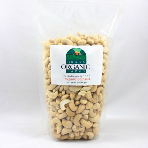 Braga Organic Farms Cashews, Raw, 2 Pound