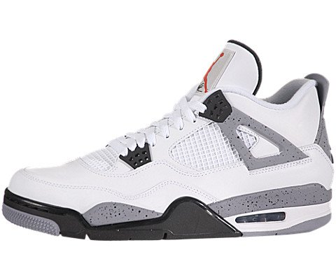 Nike Air Jordan Iv Retro White Cement (308497-103) (Mens us11) (White Iv Jordan Cement)