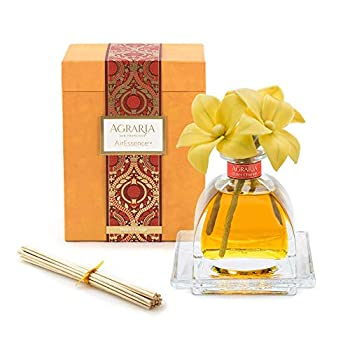 Image of Home and Kitchen AGRARIA Bitter Orange Scented AirEssence Diffuser, 7.4 Ounces with Reeds and Flowers