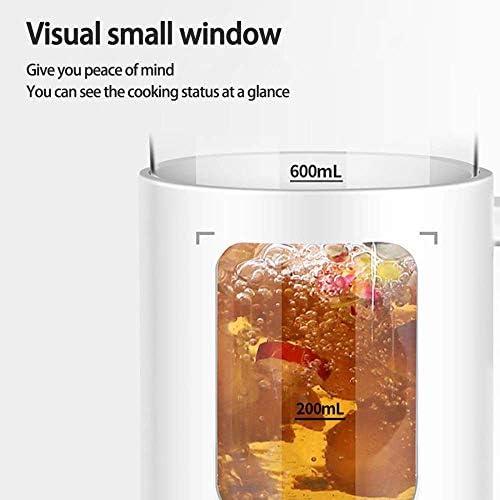 HLJ Electric Kettle 0.6L Glass Tea Kettle met Variable Presets, One Touch thee faciliteiten, 100% roestvrij staal binnendeksel, Tea Infu