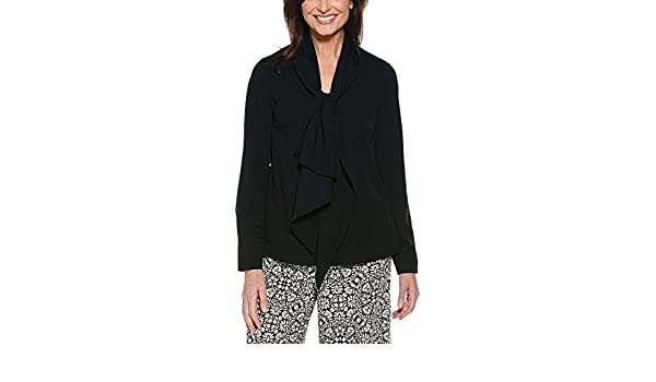 a21d76402b3a80 Coolibar UPF 50+ Women s Chillon Blouse - Sun Protective (3X- Black) at Amazon  Women s Clothing store  Fashion Hoodies
