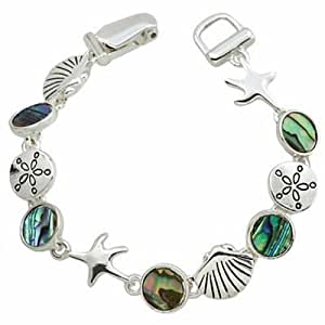 Amazon.com: Sea Life Bracelet BG Abalone Sand Dollar Clam