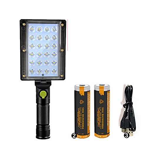 YONGYUE USB Rechargeable Work Light, Portable Work Lights With Magnetic Base Ultra Bright LED Flashlight, Inspection Lamp For Car Repair,Home Using, And Emergency,B