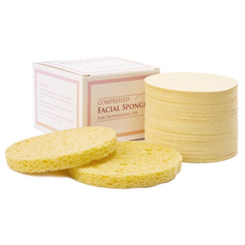 Cellulose Facial Sponge Compressed for Professional Use (50 - Sponges Cellulose Facial