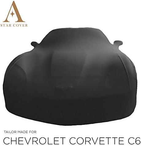 Autoabdeckung Schwarz Passend FÜr Chevrolet Corvette C6 Mit Spiegeltaschen Ganzgarage Innen SchutzhÜlle Abdeckplane Schutzdecke Cover Auto