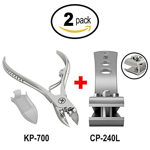 Bundle of 2 Items: KP-700 Toenail Clipper for Thick Nails an