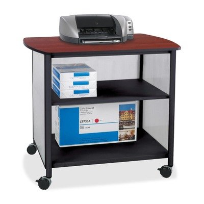 Impromptu Deluxe Machine Stand - SAFCO PRODUCTS 1858BL Impromptu Deluxe Machine Stand, 34-3/4w x 25-1/2d x 31h, Black/Cherry