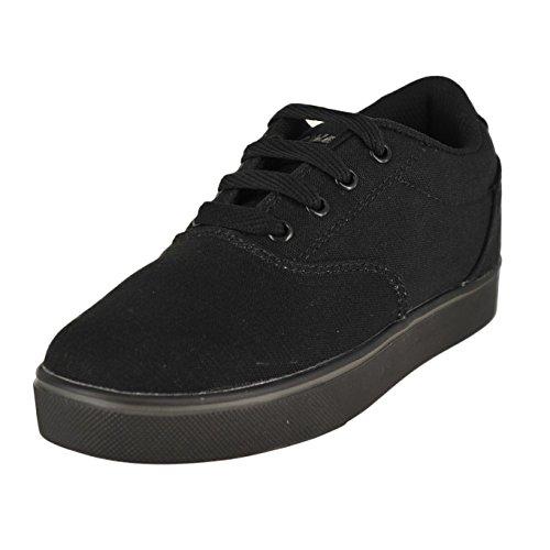 Heelys Launch Skate Shoe ,Black Canvas,4 M US Big Kid
