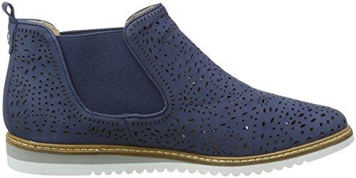 Caprice Damen 25400 Chelsea Boots Blau (Navy Nubuc 810)