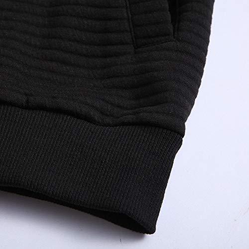 Casual Uomo Splicing Collo Black Giubbotto Moda Da Collare Nuovo FZan04xqWd