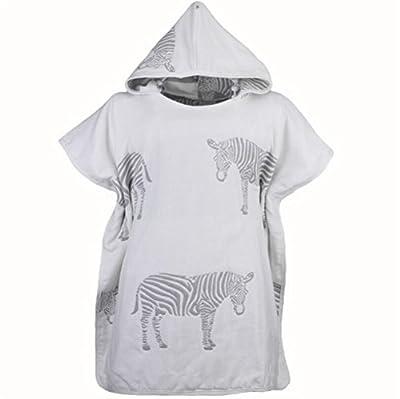Huasen Towelling Bath Robe Children's Bathrobe Zebra Pattern Bath Towel Six-Layer Gauze Cloak Bathrobe Sleepwear Wrap Nightwear
