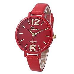 Women Bracelet Watch Geneva Famous brand Ladies Faux Leather Analog Quartz Wrist Watch Clock Women