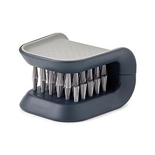 Joseph Joseph BladeBrush Knife and Cutlery Cleaner Brush Bristle Scrub Kitchen Washing Non-Slip, One Size, Gray