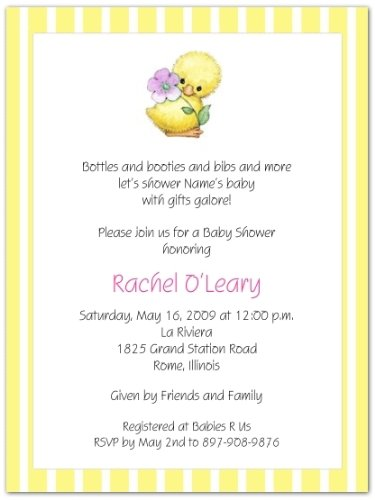 Yellow Ducky Baby Shower Invitations - Set of 20 ()