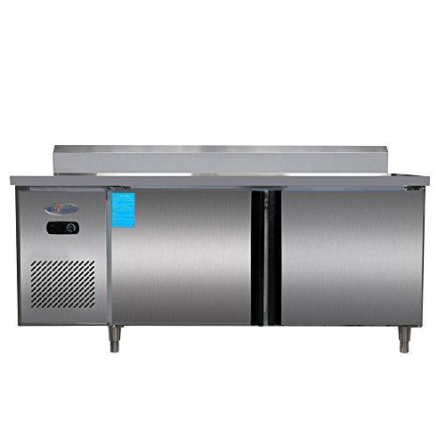 400L Double Door Restaurant Kitchen Stainless Steel Refrigerators Under-Counter Worktop Commercial Cabinet Freezers Cooler 14.1 cu.ft. Double Door Undercounter Refrigerator