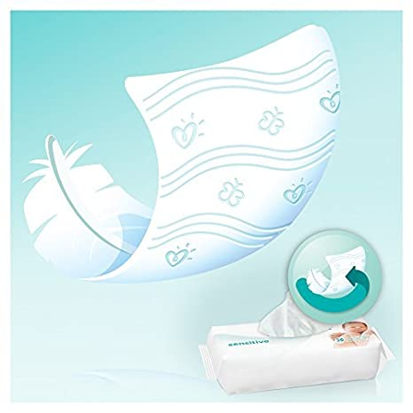 Pampers Sensitive - Toallitas para bebé: Amazon.es: Salud y cuidado personal