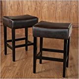 Cheap Noble House Trent Home 26″ Counter Stool in Brown (Set of 2)