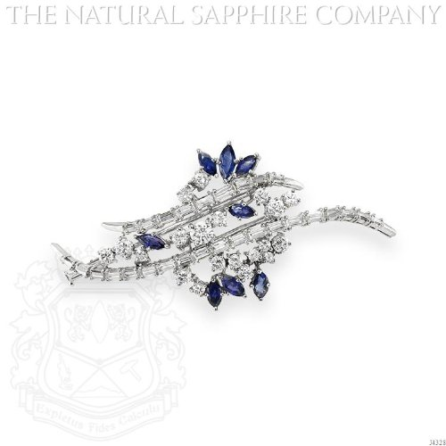 Diamond & Sapphire Brooch - 6