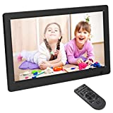 Digital Photo Frame,OUTAD 12-inch IPS with Motion Sensor & Picture Rotation Function Built-in Speaker Slideshow for HD Dispalying Photo Support Video & MP3 Music Playback (Black)
