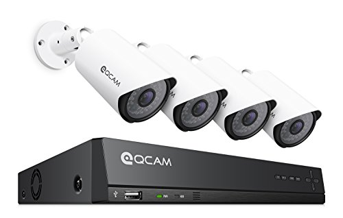 Qcam 2-Megapixel  8Ch Network POE Video Security System  - F