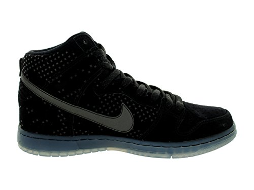 Nike Dunk High Prem Flash SB Zapatillas de skateboarding, Unisex adultos Negro (Black / Black-Clear)