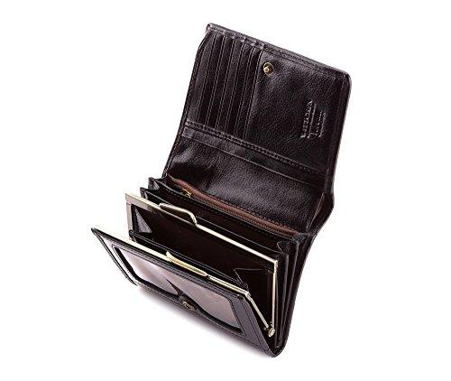 WITTCHEN portafoglio, Nero, Dimensione: 9.5x12 cm - Materiale: Pelle verniciata - 25-1-070-1