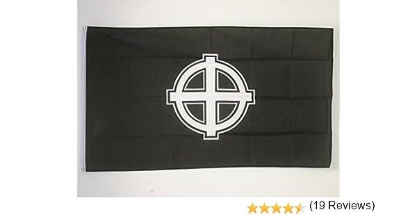 AZ FLAG Bandera Cruz Celta Negra 150x90cm - Bandera Cruz Cristiana ...