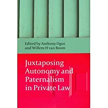 [(Juxtaposing Autonomy and Patenalism in Private Law )] [Author: Anthony I. Ogus] [Jul-2011]