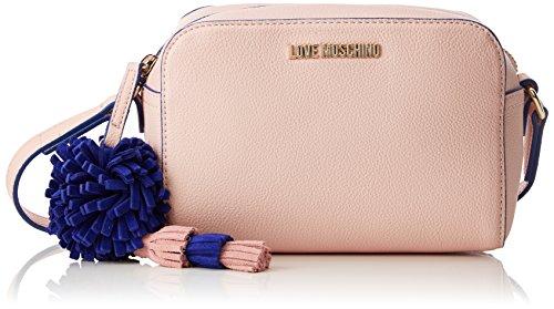 Love Moschino Borsa Small Grain Pu Rosa, Sacs baguette femme, Rose (Pink), 8x13x19 cm (B x H T)