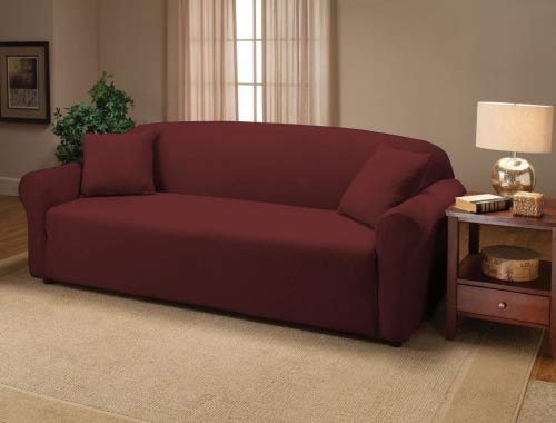 iture Jersey Stretch Slip-Cover, Sofa Ruby ()