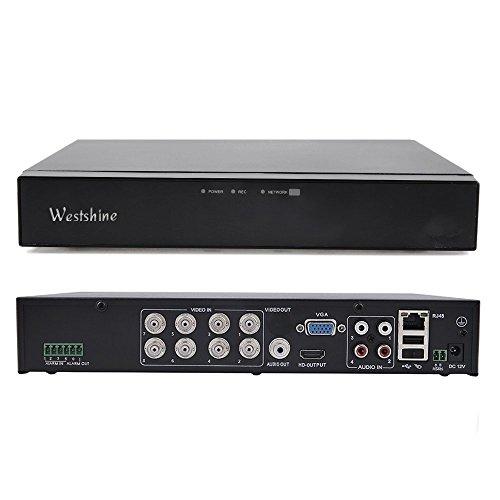 Westshine 8CH 1080P AHD/TVI/CVI/Analog/IP Hybrid DVR, HD 1920x1080P CCTV Digital Video Recorder, Support Onvif, Motion Detection, Email Alert, Remote Access, P2P Cloud Network (NO HDD)