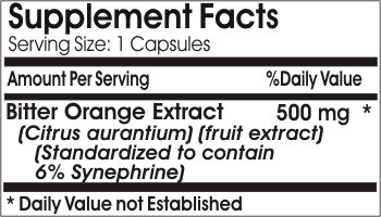 Bitter Orange Extract 500mg ~ 180 Capsules - No Additives ~ Naturetition Supplements