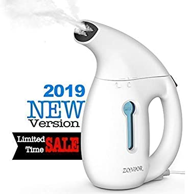 Zonpor Clothes Steamer, Portable Steamer for Clothes Travel Size, Fast Heat Up and Powerful Steam, Mini Garment Clothing Steamer, 100% Safe Fabric Steam Iron
