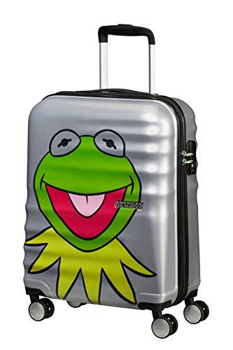 American Tourister Wavebreaker Disney - Muppets - Spinner S Handgepäck, 55 cm, 36 L, Grau (Kermit Sparkle)