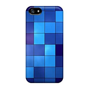 Design High Quality Blue Squares Covers Cases With Excellent Style For Iphone 5/5s